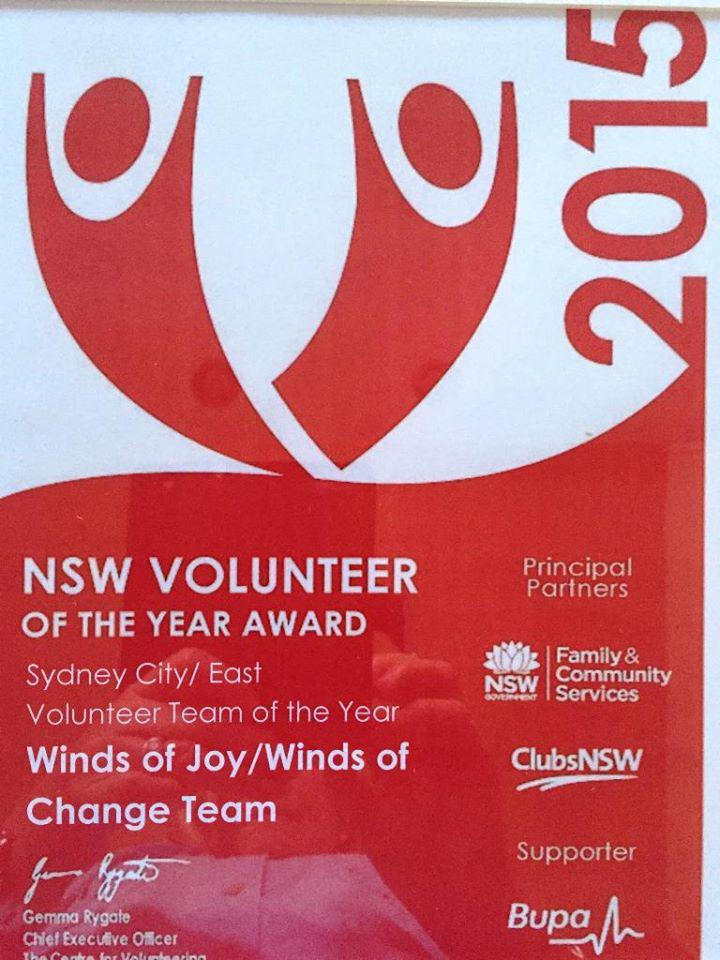 NSW Volunteer Team Awards 2