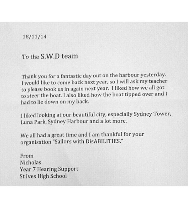 Letter From St Ives School 4
