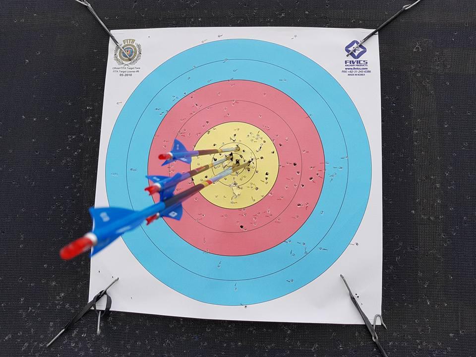 Dave's archery practice