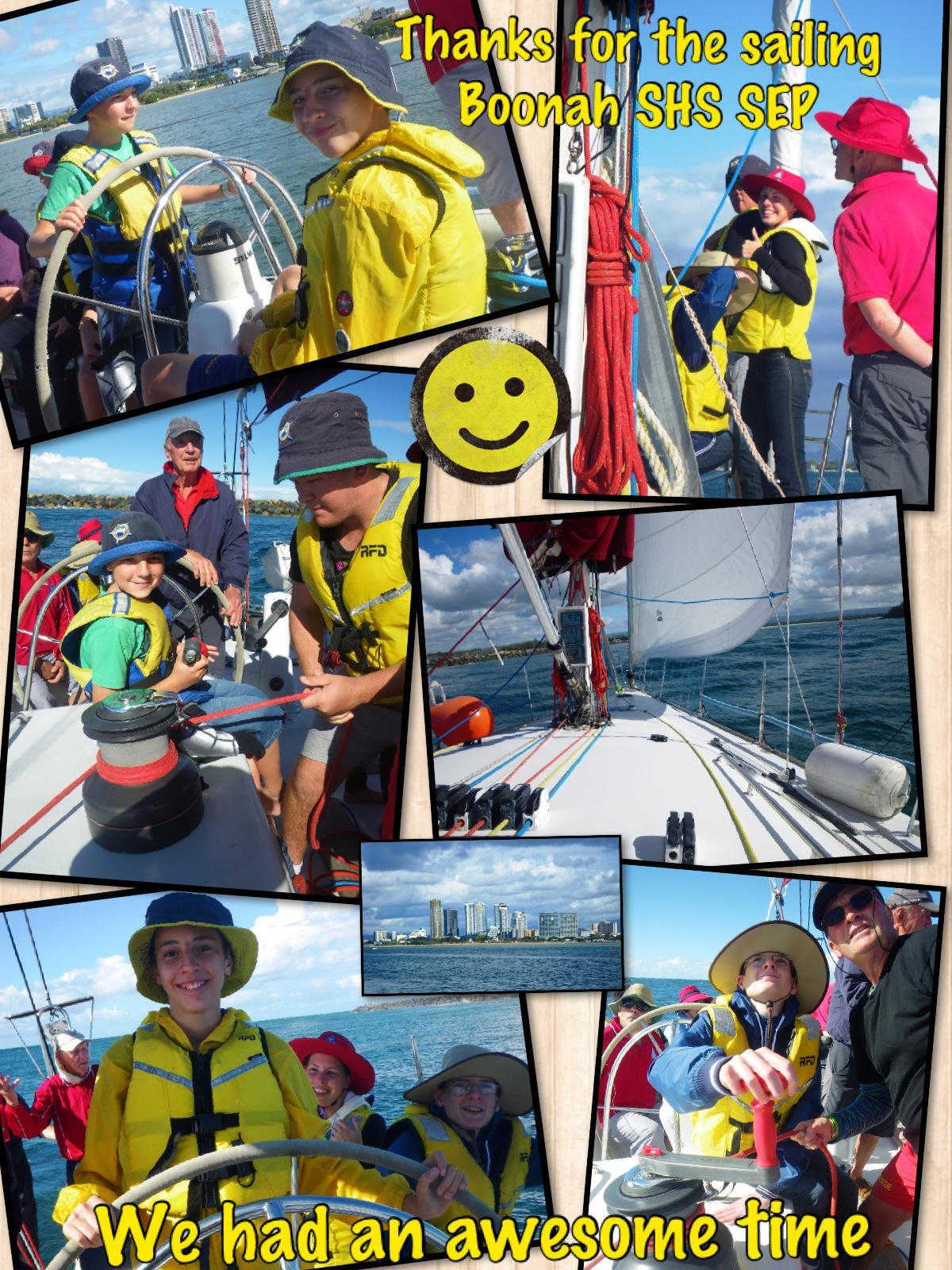 Thanks for the sailing Boonah SHS SEP