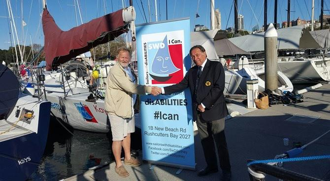 SWD Founder David Pescud and CYCA Commodore John Cameron formalising the partnership between the two organisations.