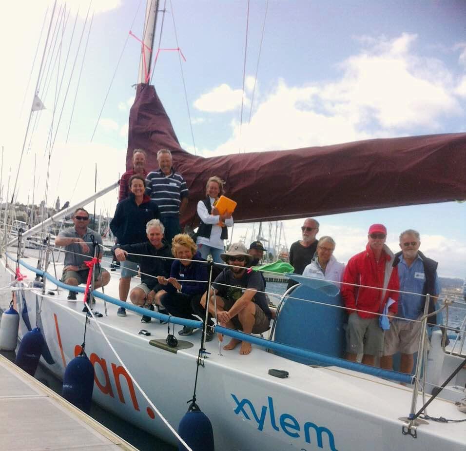 Volunteers on board Kayle in Hobart