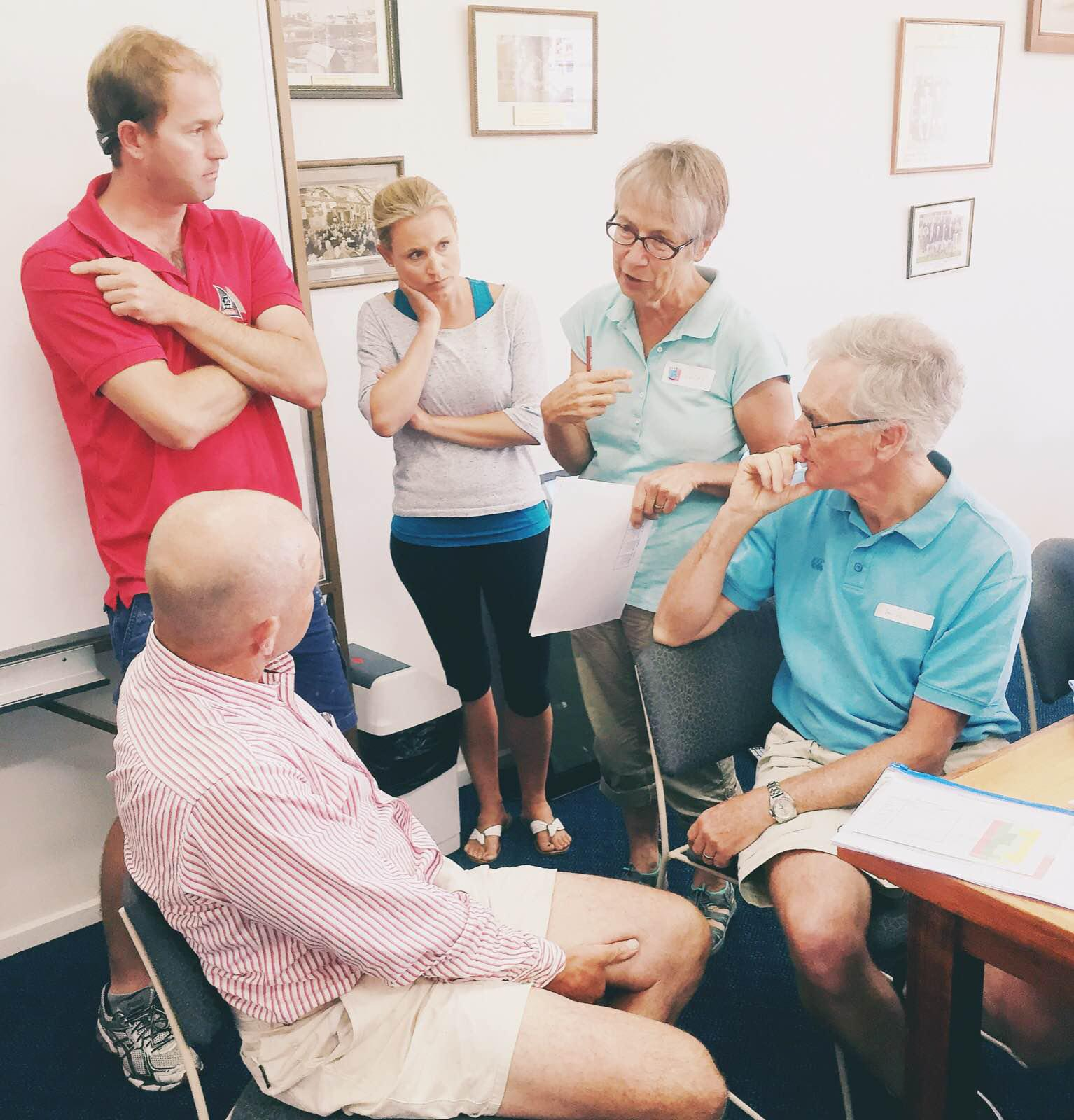 Volunteers meeting Hobart for Winds of Joy