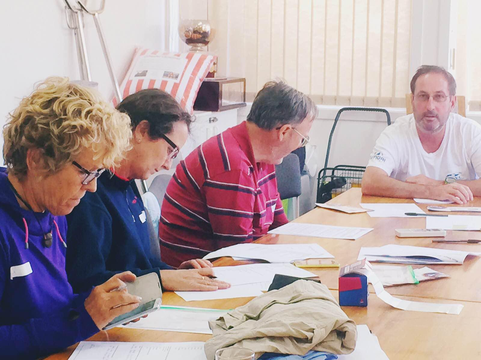 Hobart volunteers filling out forms