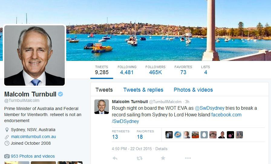 Malcolm Turnbull tweet